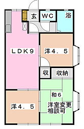 フローラKIKU B[307    号室]の間取り