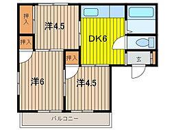 町田荘[1階]の間取り
