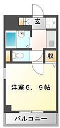 サンイースト江坂[6階]の間取り
