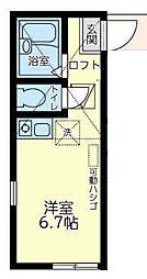 神奈川県横浜市鶴見区東寺尾中台の賃貸アパートの間取り