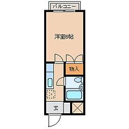 姉崎グリーンハイツⅡ[104号室]の間取り