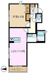 コンフォール鴨居[1階]の間取り
