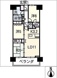 サンクレイドル志賀本通1408号[14階]の間取り