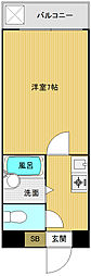 かがせビル[404号室]の間取り