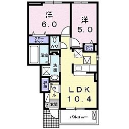 福富町アパート[0104号室]の間取り