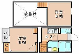 クレオ吉塚参番館[1階]の間取り