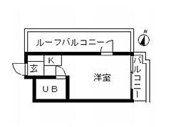 ハイシティ新宿(エレベーター無し・カーペット)[503号室号室]の間取り