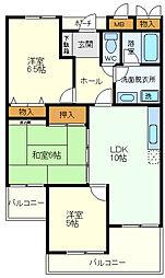 ガーデンハイツ桃山台 壱番館[1階]の間取り