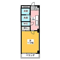 ZUM SANCTUS[5階]の間取り