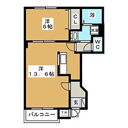 ルピナス[1階]の間取り