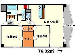 リテラシー江坂ビル[5階]の間取り