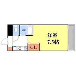 熊本県熊本市中央区黒髪6丁目の賃貸マンションの間取り
