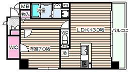 トモドール北梅田[6階]の間取り