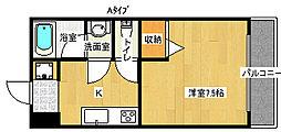 プルミエール住之江[2階]の間取り