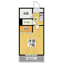 サンシーガル3[3階]の間取り