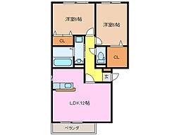 フローラM A棟[3階]の間取り