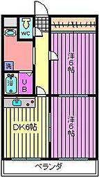 深作大鉄ビル[302号室]の間取り