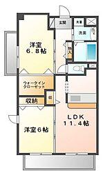 グランジェ東甲子園[2階]の間取り