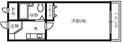 マスターズエル綾園63[3階]の間取り