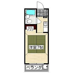 村岸マンション[307号室]の間取り