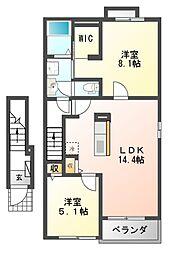 House Eureka[2階]の間取り