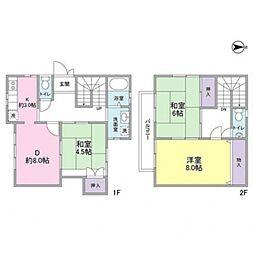 [テラスハウス] 神奈川県横浜市都筑区平台 の賃貸【/】の間取り