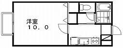 新潟県新潟市中央区紫竹1丁目の賃貸アパートの間取り