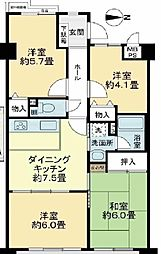 ライオンズマンション桂川久世[207号室]の間取り