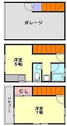 アドバンス春日原I[1階]の間取り