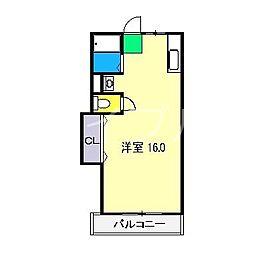 サンハイツ(北川添)[3階]の間取り