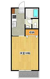 メゾン平松ラ・フォンテーヌ1[2階]の間取り