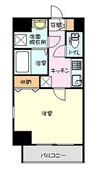 横浜市営地下鉄ブルーライン 弘明寺駅 徒歩6分の賃貸マンション 8階1Kの間取り