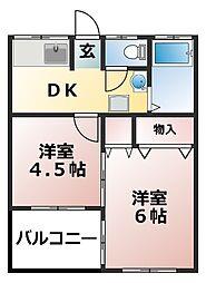 小倉マンション[1階]の間取り