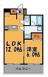 ラ・ペールモリ[7階]の間取り