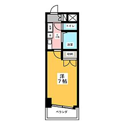 ハイツ亀島[3階]の間取り