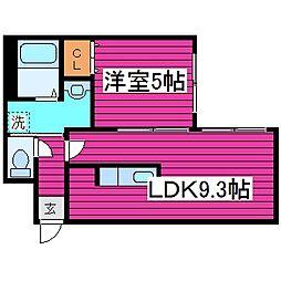 ガーデンコート栄町[3階]の間取り