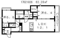 シャーメゾンクリスタル[2階]の間取り