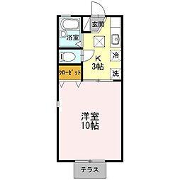 ジュネス92[2階]の間取り