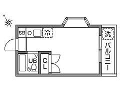東京都調布市深大寺東町4丁目の賃貸アパートの間取り