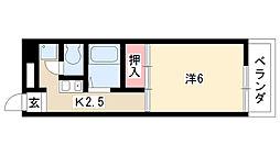 大島マンション大谷[1E号室]の間取り