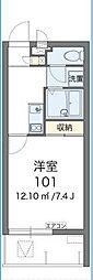 沖縄都市モノレール 奥武山公園駅 徒歩8分の賃貸アパート 3階1Kの間取り