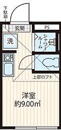 Studio Apartment 東池袋 ~スタジオアパートメント東池袋~ 3階ワンルームの間取り