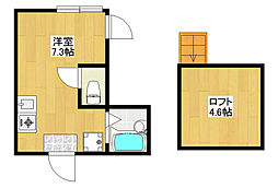loghouse komiyama[105号室]の間取り
