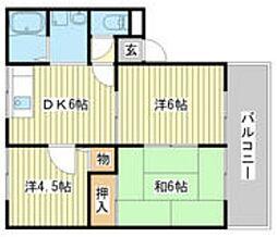エスポワール A棟[1階]の間取り