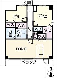 スタシオン川名公園[3階]の間取り