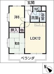 ドミールイケダ[2階]の間取り