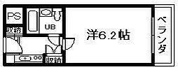 ユニデンス貝塚[310号室]の間取り