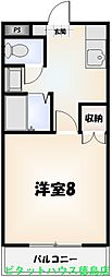 セ・ミュー川内[203号室]の間取り