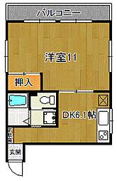 オリーブマンション[205号室]の間取り