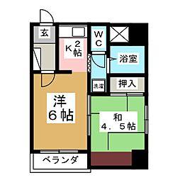 二日町パークマンション[7階]の間取り